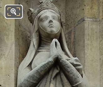 Sainte Radegonde Statue By Louis Desprez