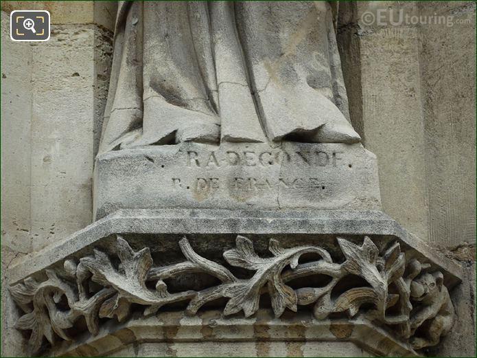 Sainte Radegonde Name Inscription