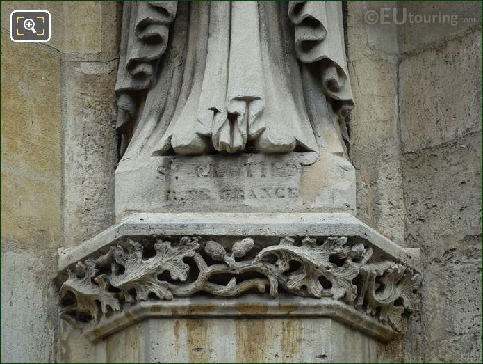 Name Inscription On Sainte Clotilde Statue