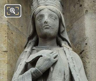 Queen Of France Statue Sainte Clotilde By Louis Desprez