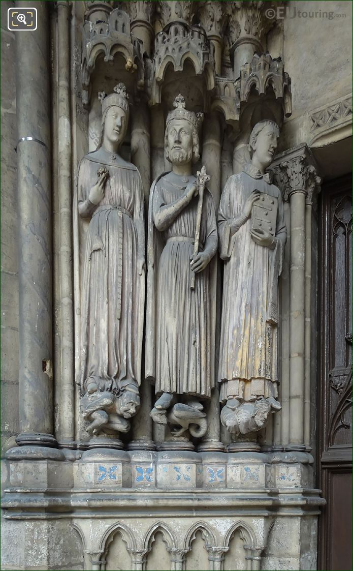 Queen of Sheba, King Solomon And Saint Vincent Of Saragossa Statues