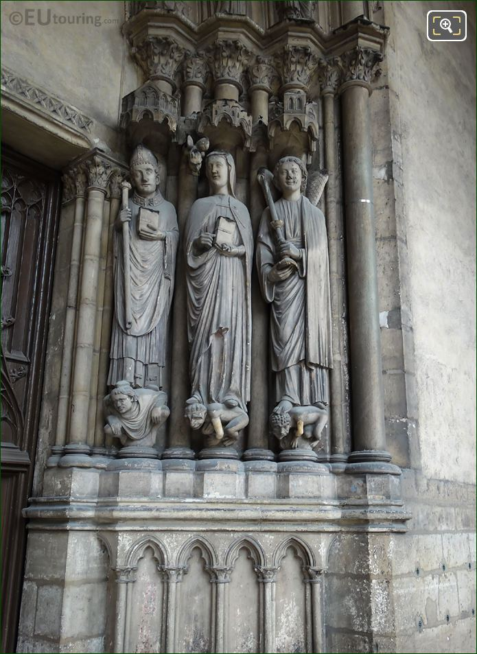 Saint Germanus Of Auxerre, Saint Genevieve And Angel Statues