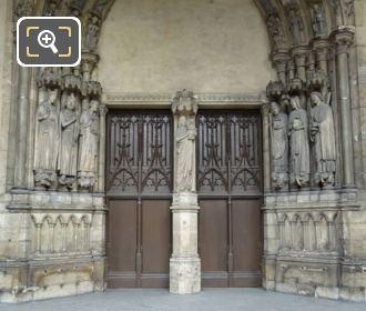 Eglise Saint Germain l'Auxerrois Main Doorway Statues