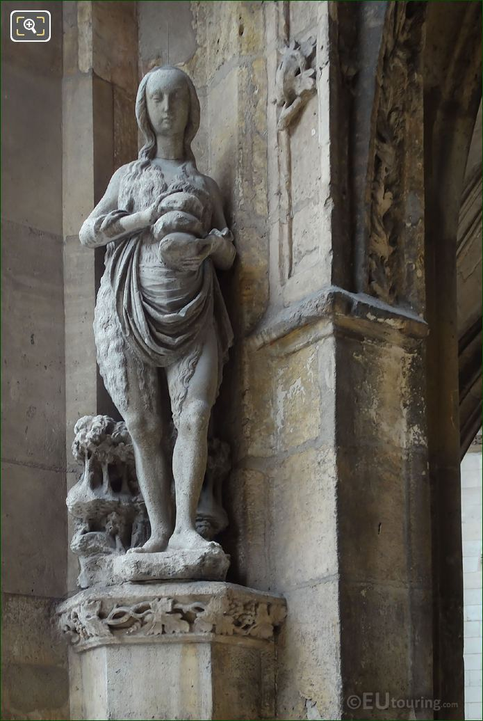 Sainte Marie d'Egypte Statue Eglise Saint-Germain l'Auxerrois