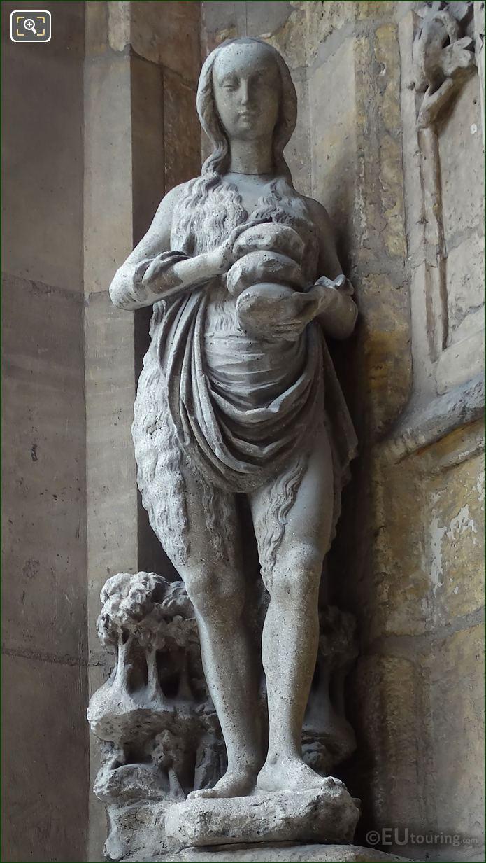 Eglise Saint-Germain l'Auxerrois Statue Sainte Marie d'Egypte