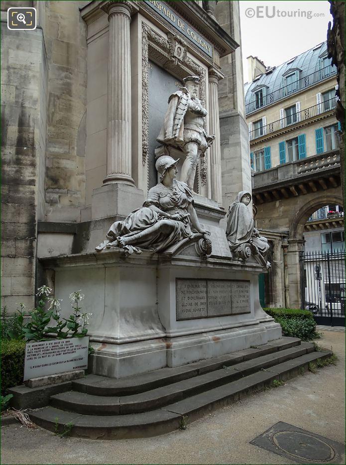 Gaspard De Coligny Monument By Scellior De Gisors