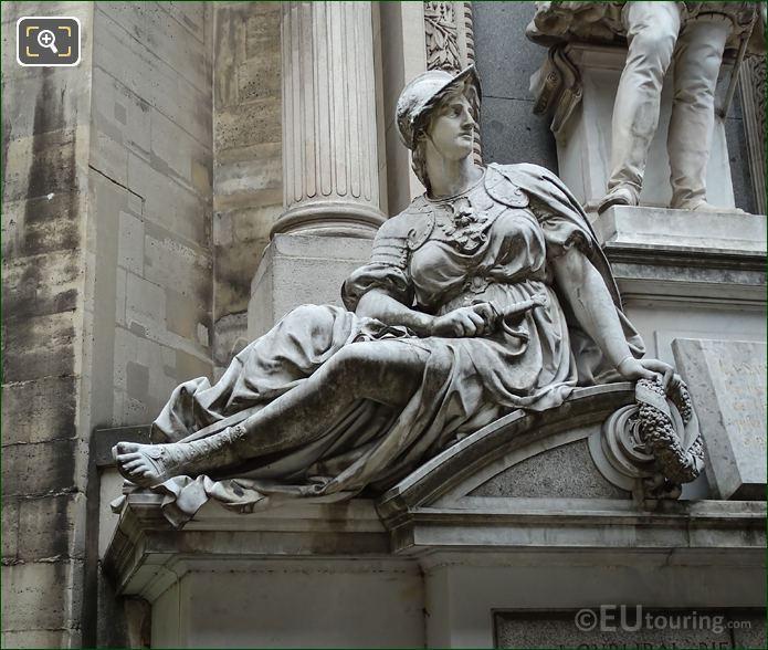 Fatherland Statue On Monument Gaspard De Coligny