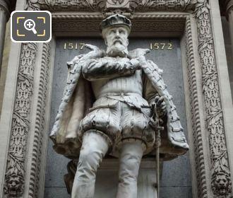Gaspard De Coligny Statue By Gustave Crauk