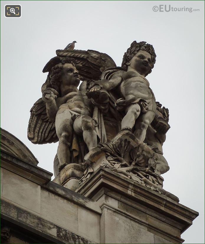 Musee Du Louvre Le Commerce Et l'Agriculture Statue