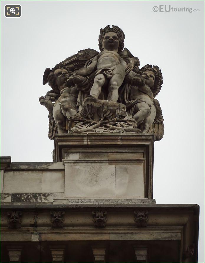 Le Commerce Et l'Agriculture Statue Rotonde De Beauvais