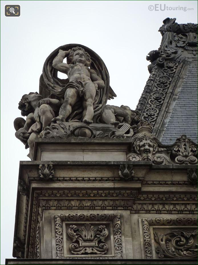 LHS Les Arts Statue On Pavillon De La Bibliotheque