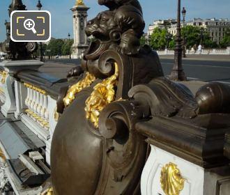 Pont Alexandre III Plaque North East Side