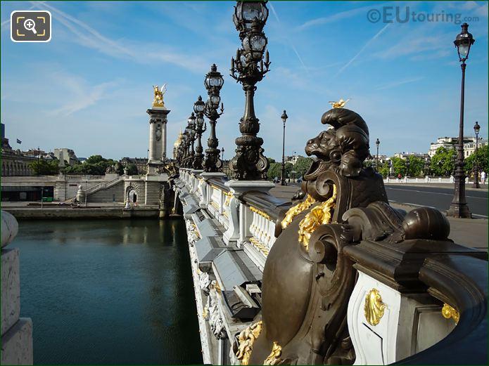 Gilded Bronze Plaque Pont Alexandre III NE Side