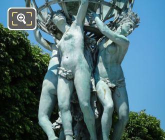 Female Allegorical Statues By Jean Baptiste Carpeaux