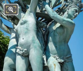 African, American Allegorical Statues Fontaine De l'Observatoire