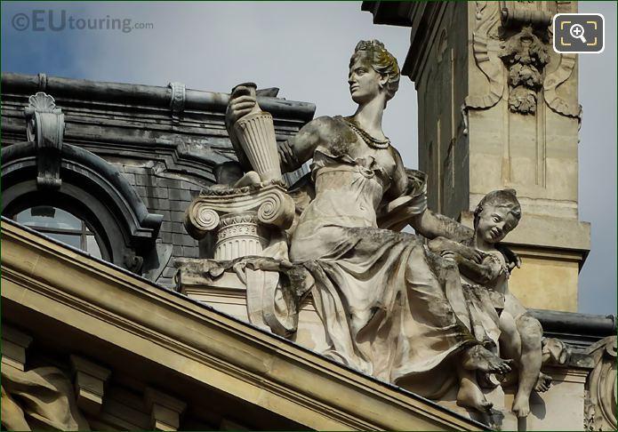Archeologie Statue On Petit Palais Roof