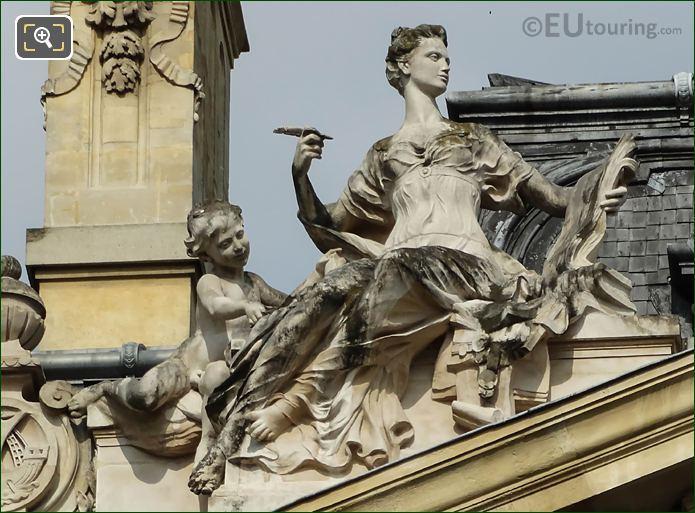 Histoire Statue On Petit Palais Roof