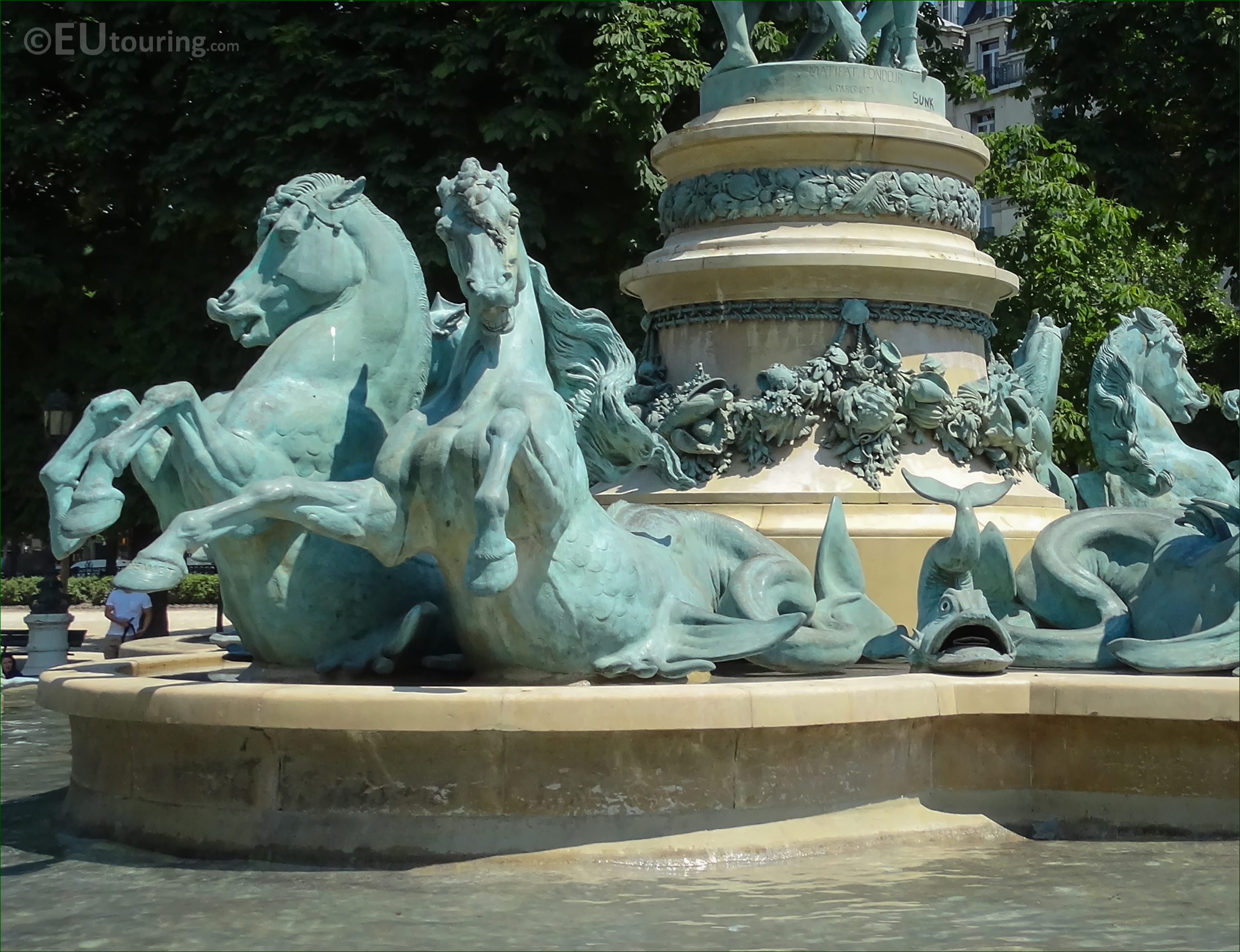 s of dolphin statues on Fontaine de l Observatoire Page 489