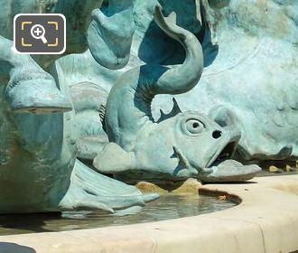 Side View Dolphin Statue Fontaine De l'Observatoire