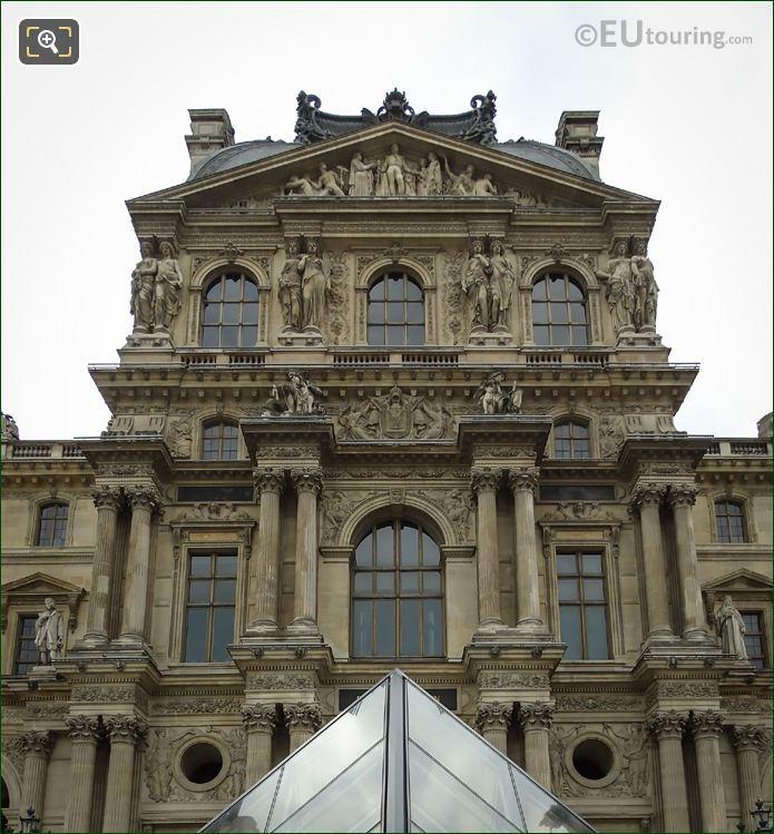 Musee Du Louvre Pavillon Denon Facade Caryatid