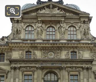 Musee Du Louvre West Facade Pavillon Sully