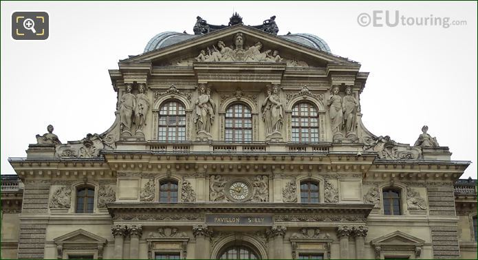Pavillon Sully Caryatid Sculptures Musee Du Louvre