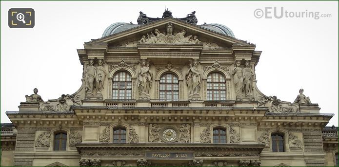 Musee Du Louvre Facade Of Pavillon Sully
