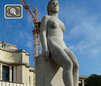 Front Of La Femme Statue Trocadero Gardens