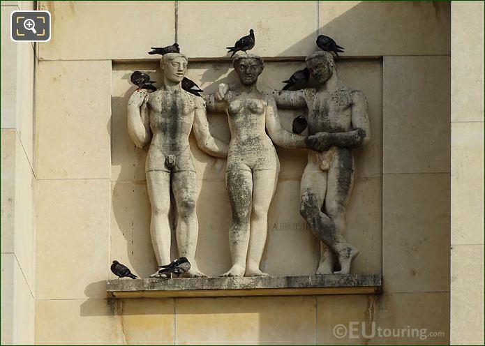 Relief Sculpture Palais Chaillot Paris