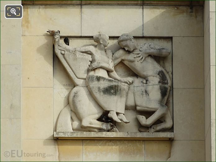 3rd Relief Sculpture Palais Chaillot Lower Facade