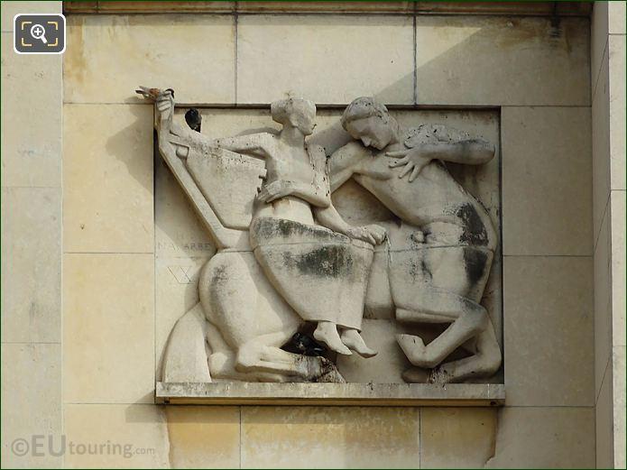 3rd Relief Sculpture Palais Chaillot Lower Facade
