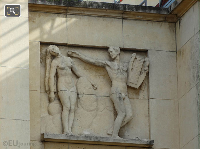 The God Of Music Bas Relief Sculpture On Palais De Chaillot
