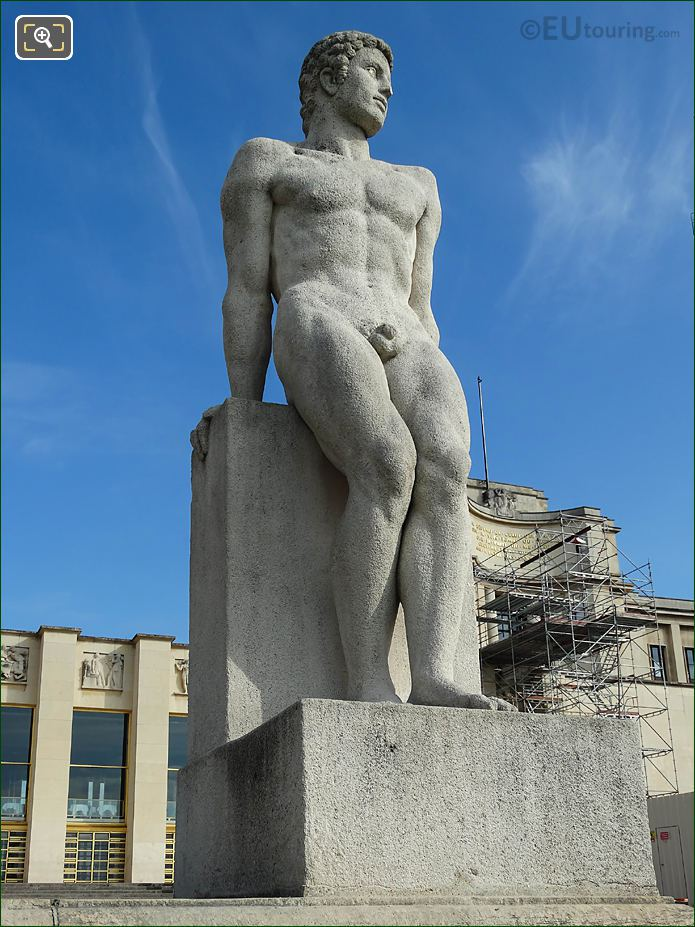 Front Of L'Homme Statue