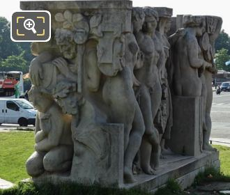 North And West Sides Of La Joie De Vivre Statue