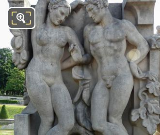 Female And Male NW Corner La Joie De Vivre Statue