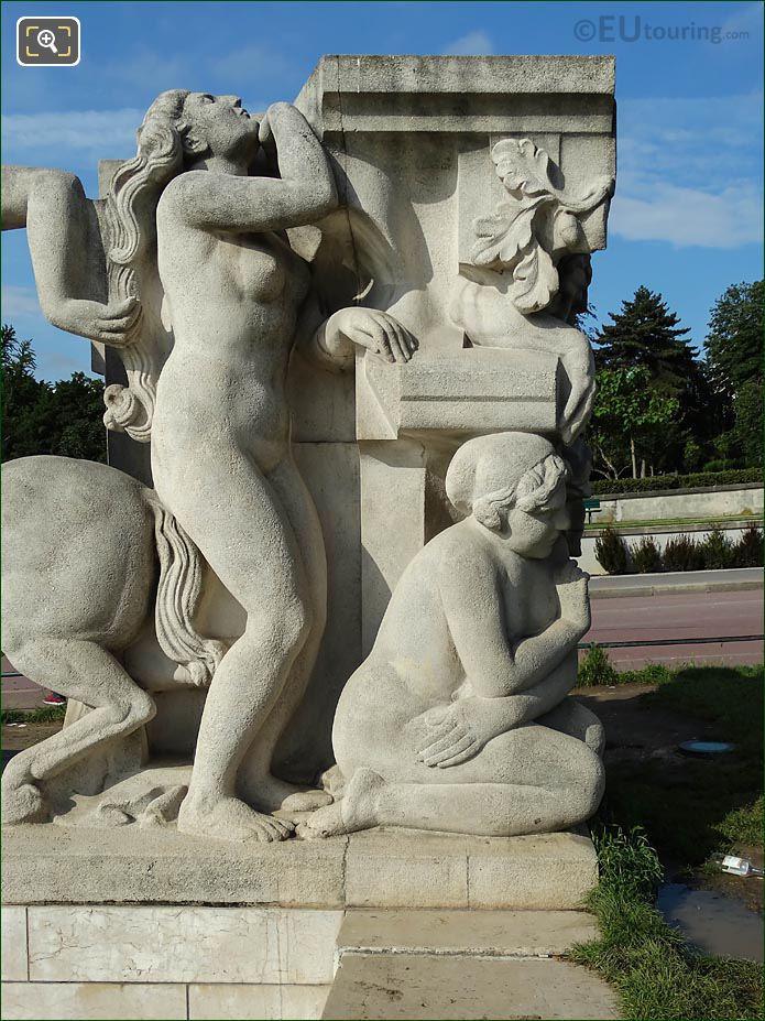 Two Females NE Corner La Joie De Vivre Statue