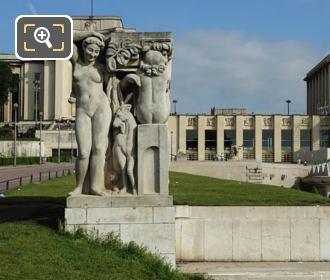 La Joie De Vivre Statue And Palais De Chaillot
