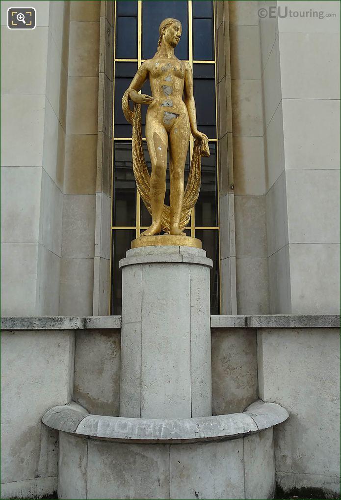 Front Of Flore Statue Palais Chaillot