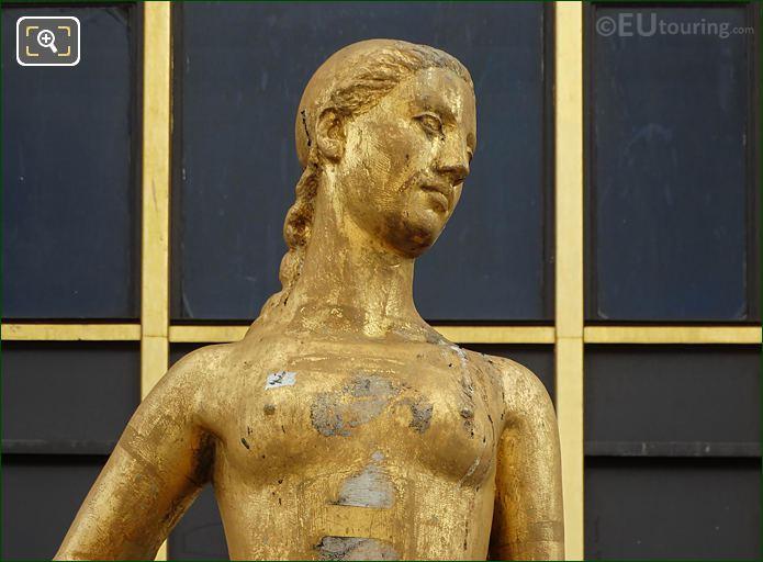Palais Chaillot Golden Statue Flore