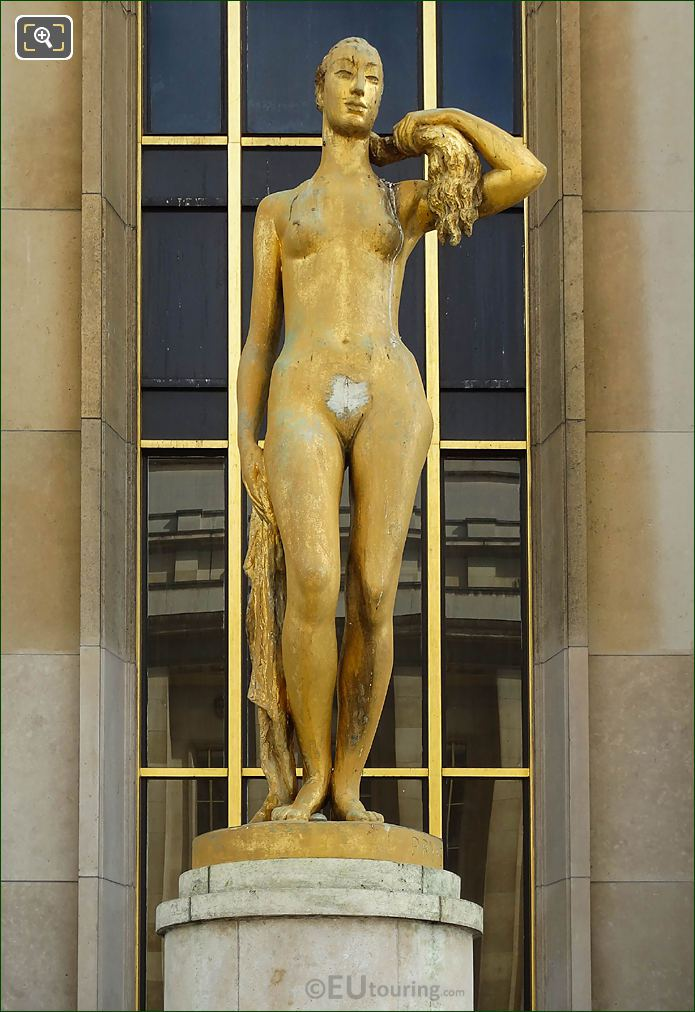 Golden Le Matin Statue By Artist Pryas