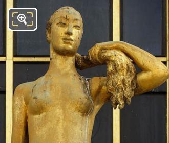 Palais Chaillot Golden Statue Le Matin