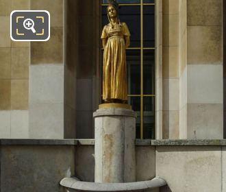 Golden Les Fruits Statue Palais De Chaillot