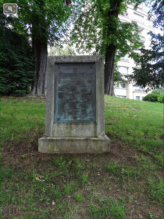 1871 Yorktown Campaign Monument In Paris