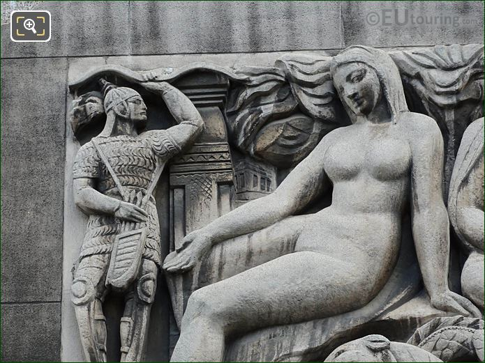 Female Figure And Soldier Asia Sculpture Palais Chaillot
