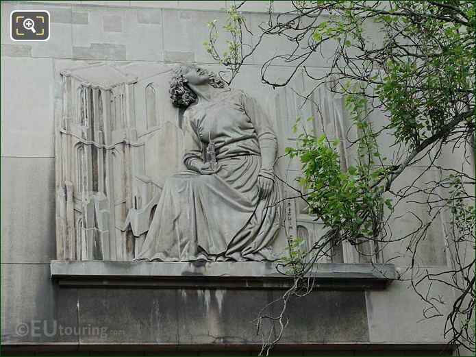 Bas Relief Sculpture On Palais De Chaillot NW Wing