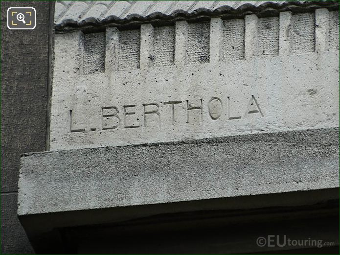 Louis Berthola Inscription On L'Art De La Forge Sculpture