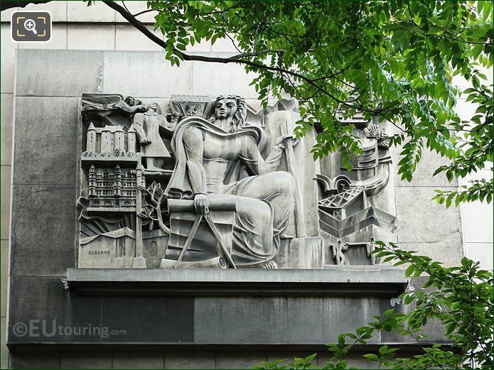 The Architect Sculpture Palais De Chaillot NE Wing