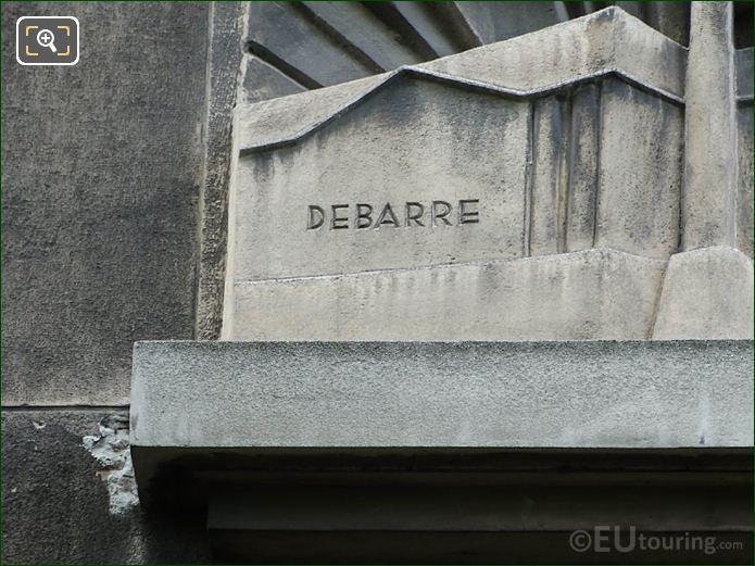 Debarre Inscription On The Architect Sculpture