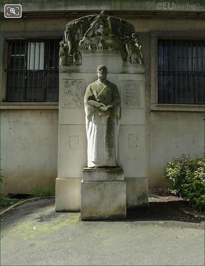 Paul Adam Monument Jardins Du Trocadero