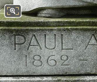 Paul Adam 1862 - 1920 Inscription On Monument